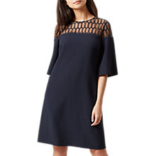 Buy Hobbs Tiana Dress, Navy Online at johnlewis.com