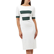 Buy Hobbs Olivia Dress, Ivory/Green Online at johnlewis.com