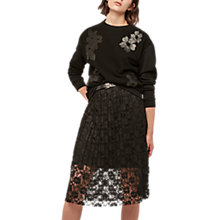 Buy Gerard Darel Alpes Skirt, Black Online at johnlewis.com