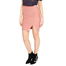 Buy Miss Selfridge Bandage Skirt, Pink Online at johnlewis.com