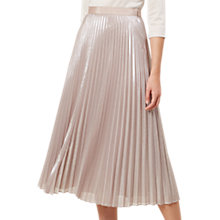 Buy Hobbs Jade Skirt, Oyster Gold Online at johnlewis.com