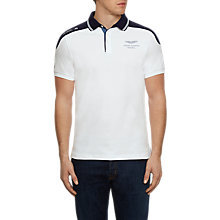 Buy Hackett London Aston Martin Racing Shoulder Panel Polo Shirt, White Online at johnlewis.com