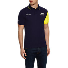 Buy Hackett London Aston Martin Racing Contrast Sleeve Polo Shirt, Navy Online at johnlewis.com