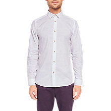 Buy Ted Baker Faaro Jacquard Long Sleeve Shirt Online at johnlewis.com