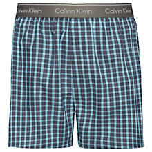 Buy Calvin Klein Hillside Check Woven Boxers, Blue Online at johnlewis.com