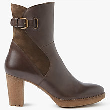 Buy John Lewis Pinky Block Heeled Ankle Boots, Brown Leather Online at johnlewis.com