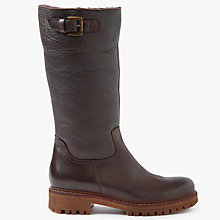 Buy John Lewis Teresa Calf Boots, Brown Leather Online at johnlewis.com
