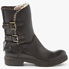 Buy John Lewis Peppa Biker Boots, Brown Leather Online at johnlewis.com