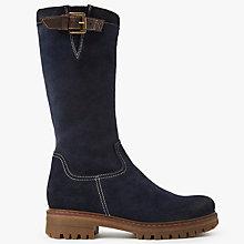 Buy John Lewis Teona Knee High Boots, Ocean Suede Online at johnlewis.com