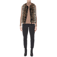 Buy French Connection Shirlee Faux Fur Gilet, Tiger Print Online at johnlewis.com