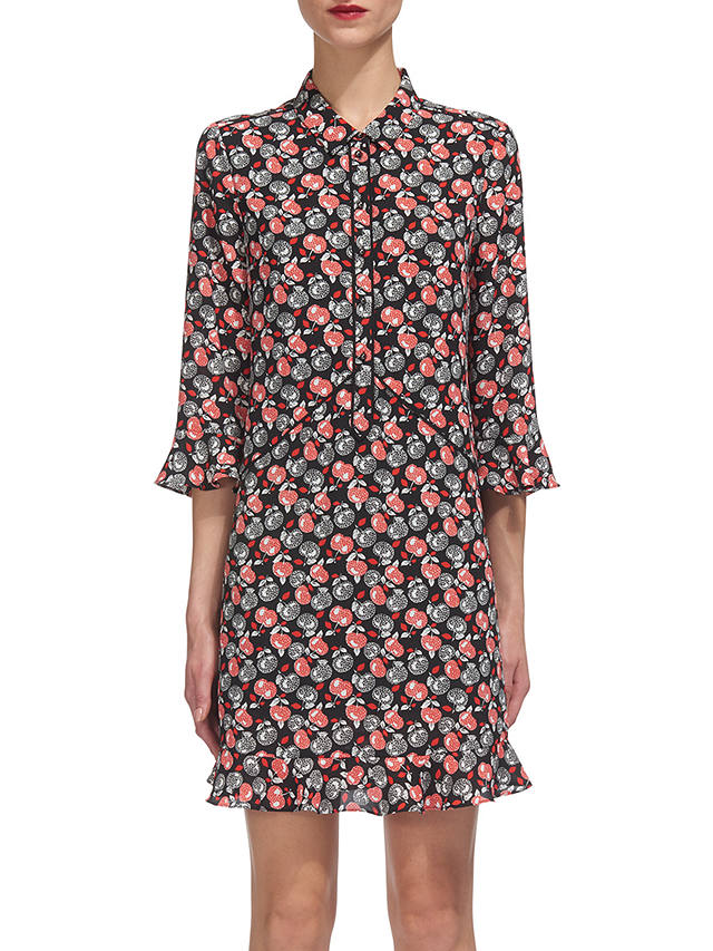 Buy Whistles Apple Print Shirt Dress, Red/Multi, 16 Online at johnlewis.com