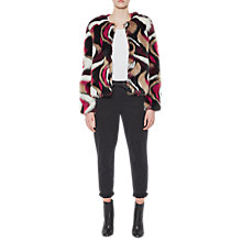 Buy French Connection Lorna Faux Fur Long Sleeve Jacket, Multi Online at johnlewis.com