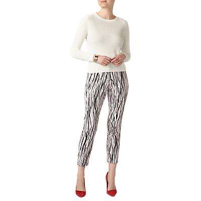 Pure Collection Capri Trousers, Zebra Print