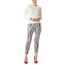 Buy Pure Collection Capri Trousers, Zebra Print Online at johnlewis.com