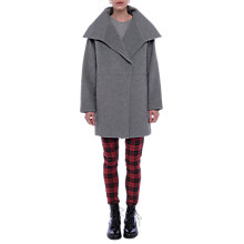 Buy French Connection Bennie Wide Collar Coat, Grey Online at johnlewis.com