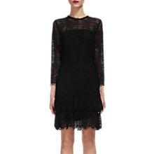 Buy Whistles Marylou Lace Dress, Black Online at johnlewis.com