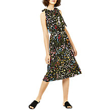 Buy Warehouse Wild Garden Tie Shoulder Dress, Multi Online at johnlewis.com