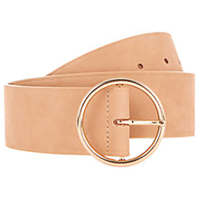 Buy Oasis Wide Circle Buckle Belt, Mid Neutral Online at johnlewis.com
