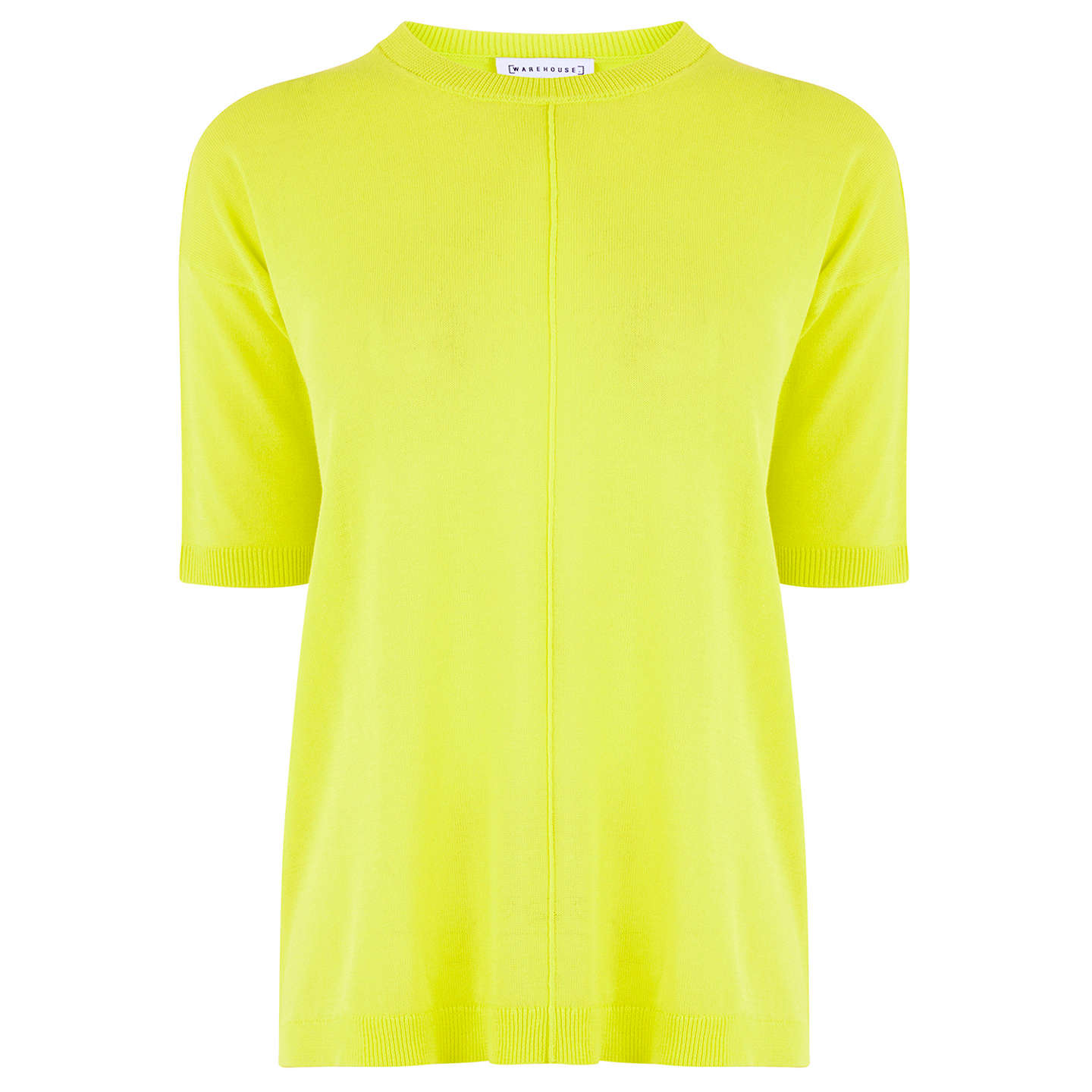 BuyWarehouse Boxy Knitted Top, Lime, S Online at johnlewis.com