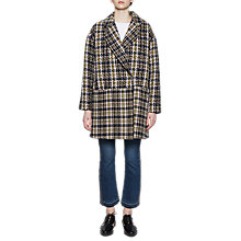 Buy French Connection Belinda Wool Coat, Utility Blue/Multi Online at johnlewis.com