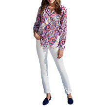 Buy Pure Collection Washed Silk Blouse, Multi Online at johnlewis.com