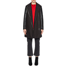 Buy French Connection PU Long Sleeve Trench Coat, Black Online at johnlewis.com