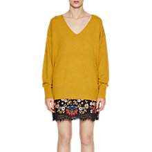 Buy French Connection Della Vhari V-Neck Jumper, Arrowood Online at johnlewis.com