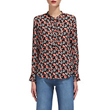Buy Whistles Apple Print Blouse, Red/Multi Online at johnlewis.com