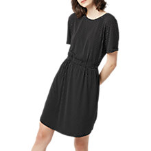 Buy Warehouse Pattern Mini Dot Dress, Black Online at johnlewis.com