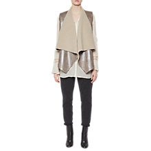 Buy French Connection Arleen Shearlig Gilet, Silver Mink Online at johnlewis.com