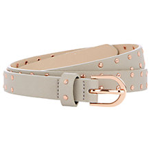 Buy Oasis Skinny Studded Belt, Mid Grey Online at johnlewis.com