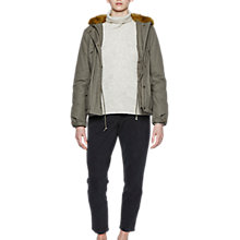 Buy French Connection Syble Parka, Dusty Olive/Willow Online at johnlewis.com