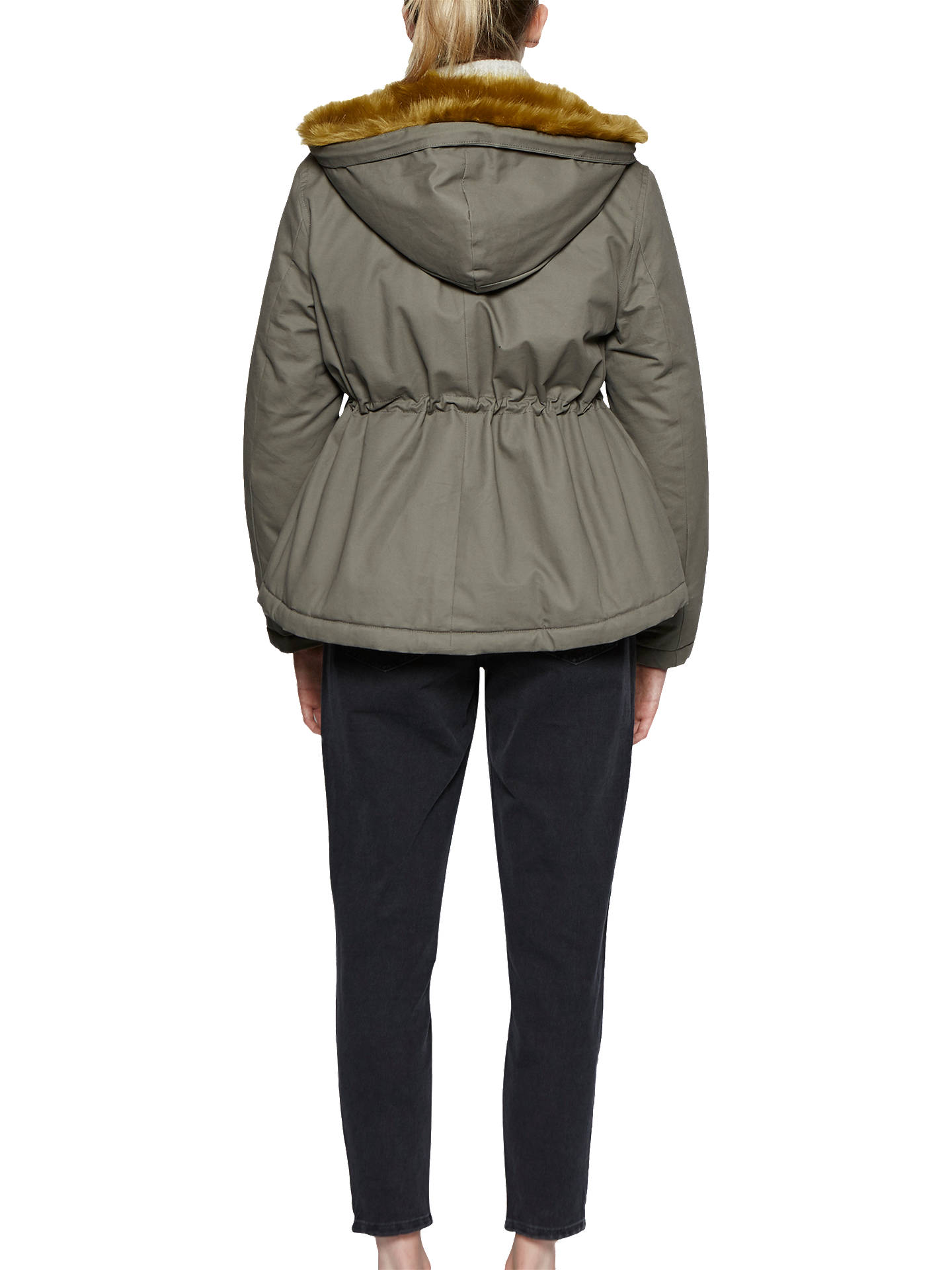 BuyFrench Connection Syble Parka, Dusty Olive/Willow, 8 Online at johnlewis.com