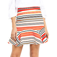 Buy Oasis Stripe Flippy Skirt, Multi Online at johnlewis.com