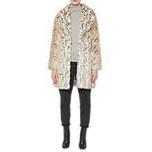 Buy French Connection Paulette Faux Fur Coat, Pale Leopard Online at johnlewis.com