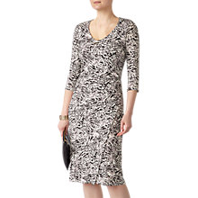 Buy Pure Collection V-Neck Jersey Wrap Dress, Leopard Print Online at johnlewis.com
