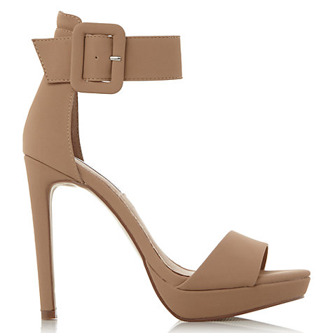 Buy Steve Madden Coco Ankle Strap Stiletto Sandals, Nude Online at johnlewis.com