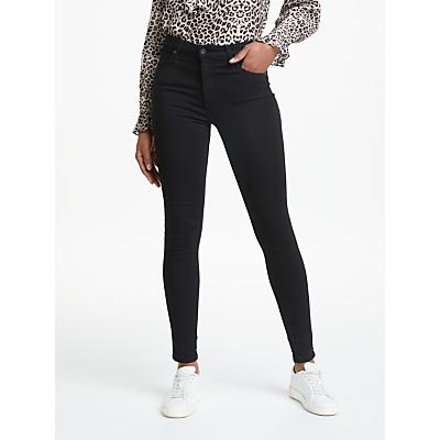 AG The Farrah High Rise Skinny Jeans, Super Black