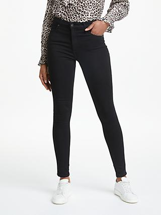 AG The Farrah High Rise Skinny Jeans, Super Black