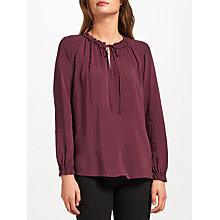 Buy Velvet by Graham & Spencer Long Sleeve Samantha Top, Plum Online at johnlewis.com