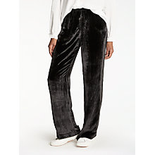 Buy J Brand Ardon Wide Leg Velvet Trousers, Black Online at johnlewis.com