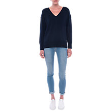 Buy French Connection Della Long Sleeve Jumper, Nocturnal Online at johnlewis.com