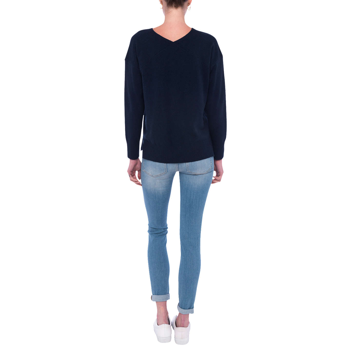 BuyFrench Connection Della Long Sleeve Jumper, Nocturnal, XS Online at johnlewis.com