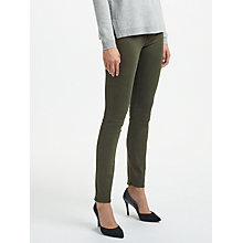 Buy AG The Prima Mid Rise Skinny Jeans, Sulfur Dark Moss Online at johnlewis.com