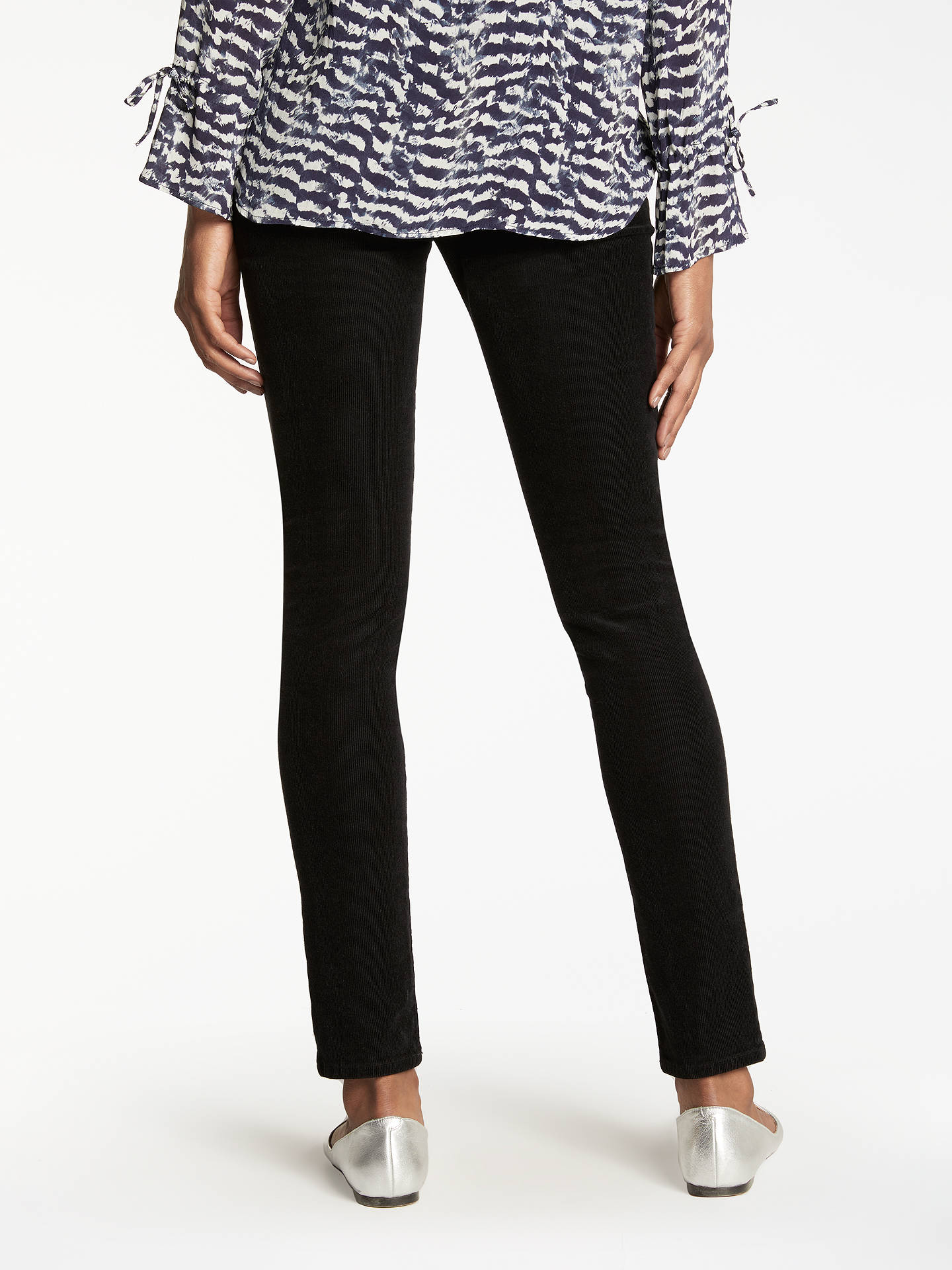 BuyJ Brand 811 Mid Rise Skinny Corduroy Jeans, Black, 24 Online at johnlewis.com