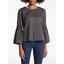Buy Velvet by Graham & Spencer Chan Trumpet Sleeve Stripe Top, Multi Online at johnlewis.com