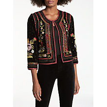 Buy Velvet by Graham & Spencer Adara Embellished Jacket, Multi Online at johnlewis.com