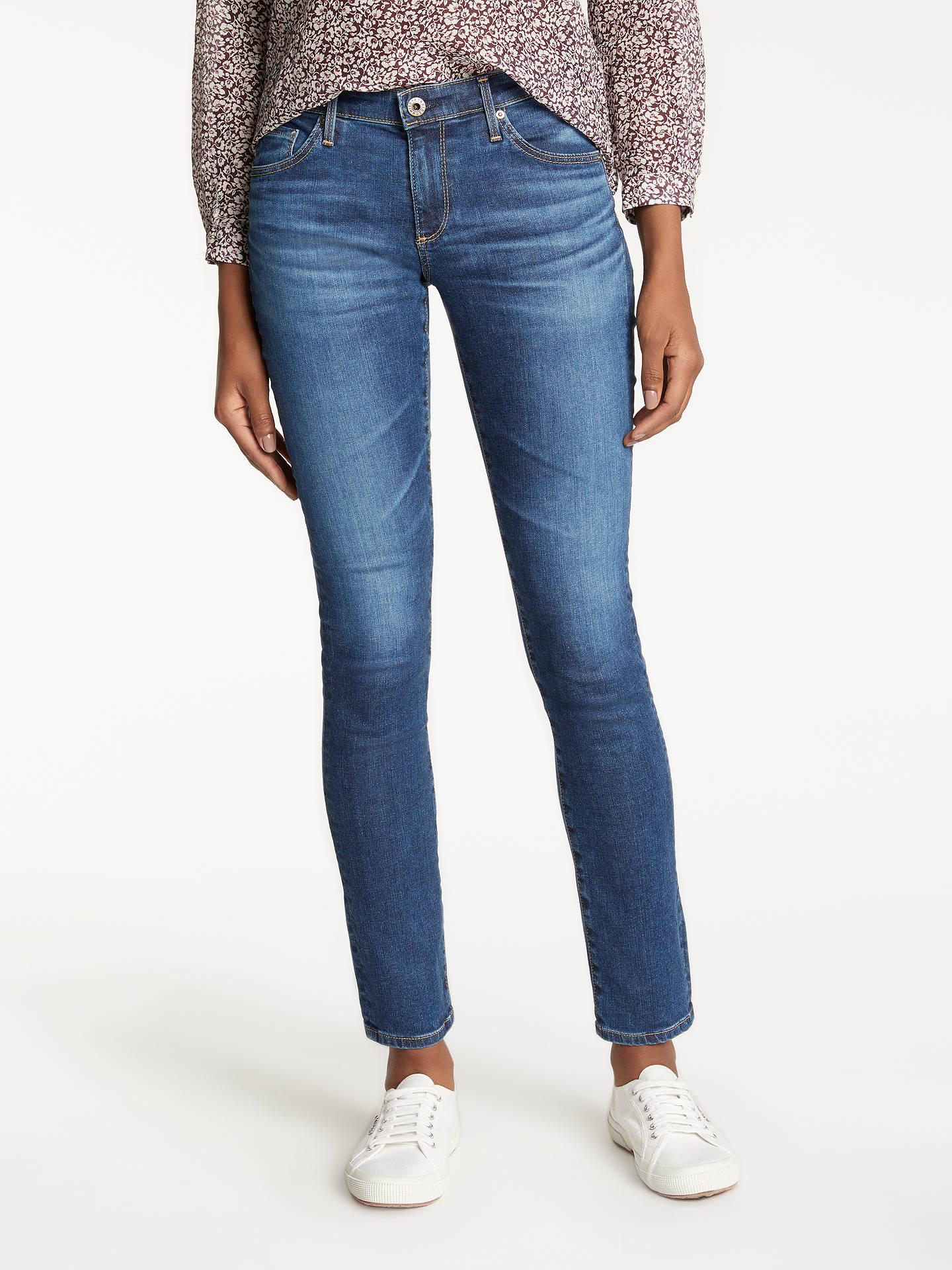 8ea4a083343eab AG The Stilt Mid Rise Skinny Jeans, Elysium at John Lewis & Partners