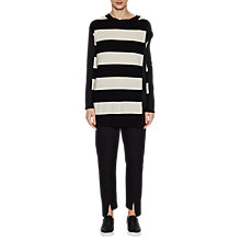 Buy French Connection Ollie Stripe Long Sleeve Jumper, Black/White Online at johnlewis.com