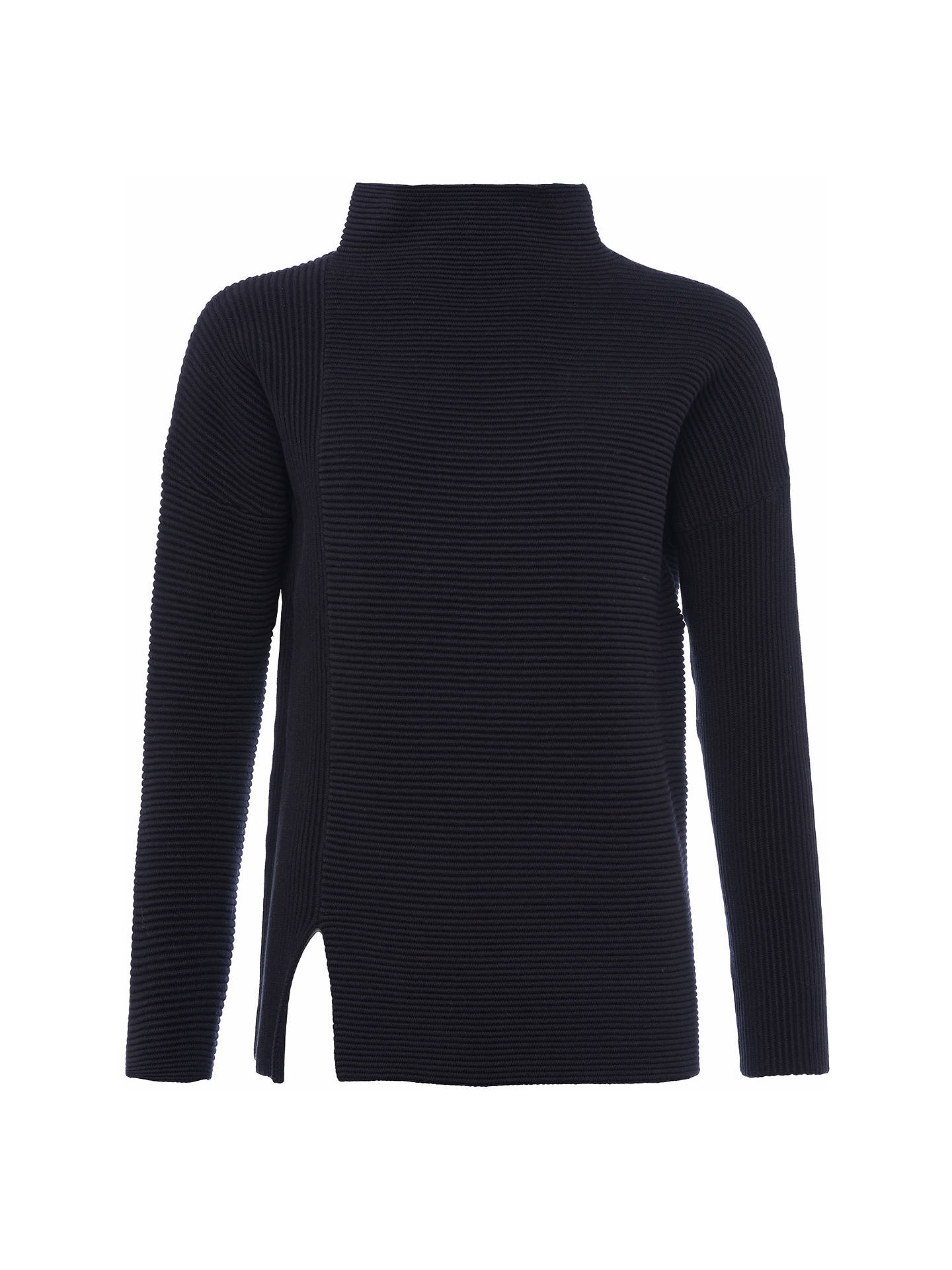 BuyFrench Connection Sunday Mozart Ribbed Jumper, Ink Green, XS Online at johnlewis.com